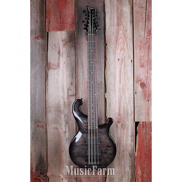 Custom Dean Rhapsody 12 RH112 TBK 12 String Bass Electric Guitar EMG HH Trans Black #1 image