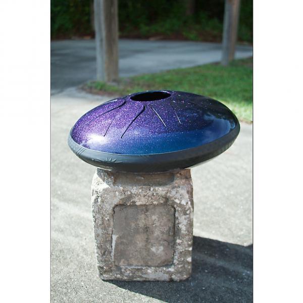 "Custom Idiopan 14"" Dominus Steel Tongue Drum Tunable Sapphire Blue #1 image"