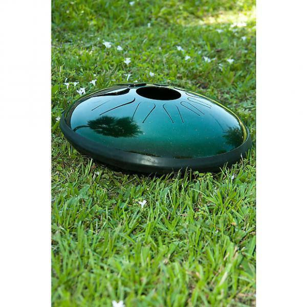 "Custom Idiopan 14"" Dominus Steel Tongue Drum Tunable Cosmic Green #1 image"