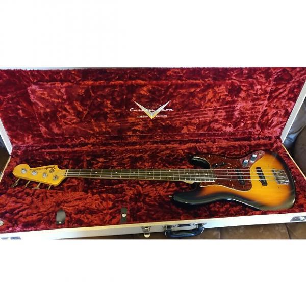 Custom Fender  Jazz Bass Custom Shop Duo Tone 2011 Vintage Sunburst #1 image
