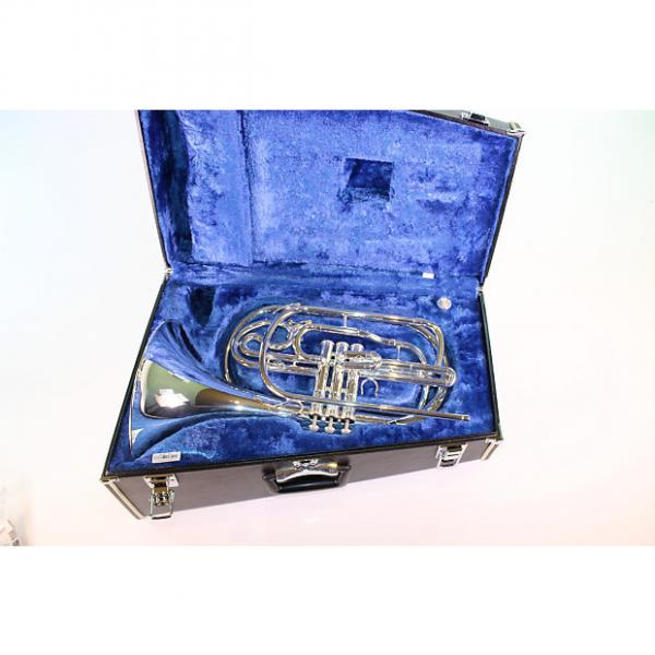 Custom Yamaha YHR-302MS Bb Marching French Horn in SILVER PLATE MINT #1 image