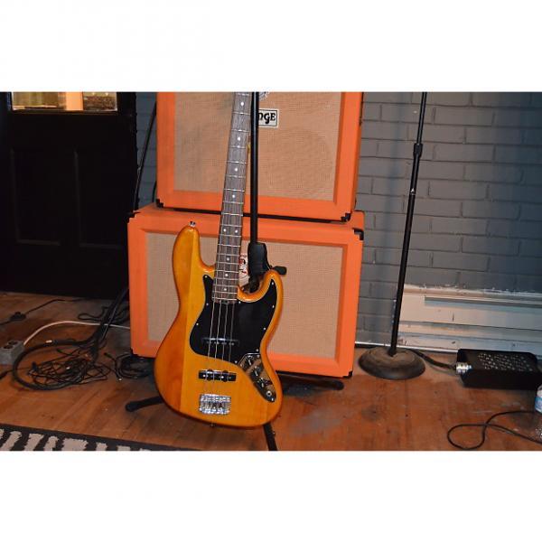 Custom Fender Jazz Bass wood finish MIC recording studio live tour pro jam  wood 4 string funk punk classic #1 image