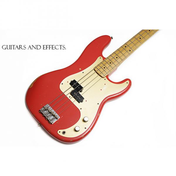 Custom Fender Road Worn '50s Precision Bass P 2016 Fiesta Red #1 image