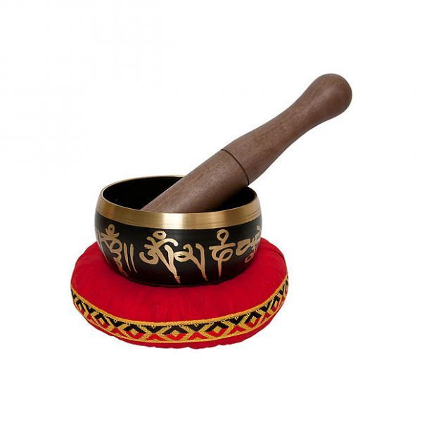 Custom DOBANI Singing Bowl Panchaloha Decorated Buddha Mallet and Cushion BLEMISHED #1 image
