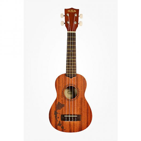 Custom Kala KA-15S-H1 Mahogany Soprano Ukulele With Hawaiian Islands #1 image