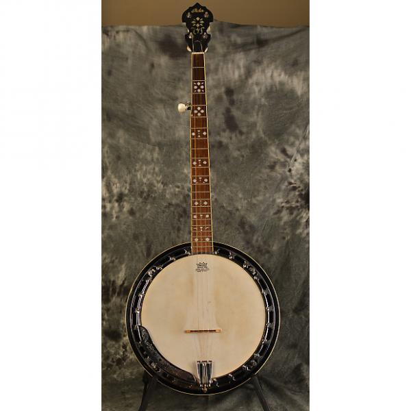 Custom Iida 5 String Resonator Banjo w Deluxe Hardshell Case Aida Hearts and Flowers Inlay #1 image