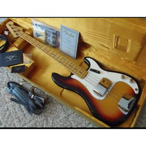Custom Fender Custom Shop '59 Precision NOS 2010 3 Tone Sunburst #1 image