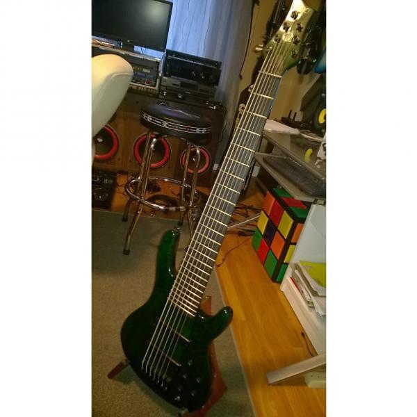 Custom Wolf 7 String Bass Guitar Wolf7 green #1 image