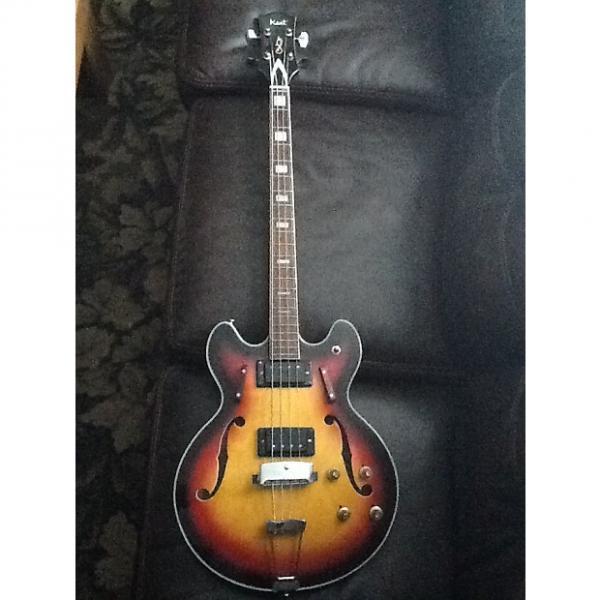 Custom Kent Hollow body bass 1960's 3 Tone Sunburst #1 image