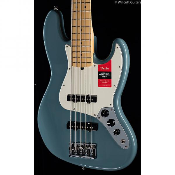 Custom Fender American Pro Professional Jazz Bass V Sonic Grey Maple (059) #1 image