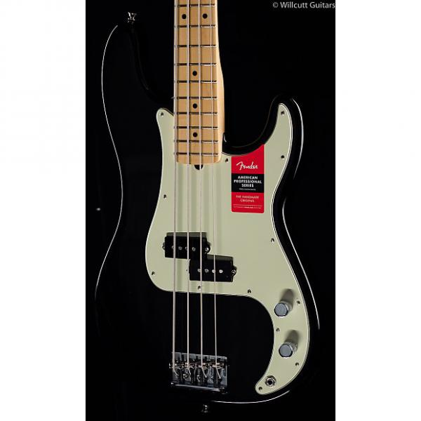 Custom Fender American Pro Professional Precision Bass Black Maple (393) #1 image