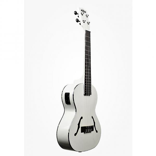 Custom Kala KA-JTE/MTW Archtop Tenor Ukulele, Satin Metallic White #1 image