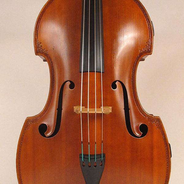 Custom Morelli 3/4 size string bass circa 1900 brown #1 image