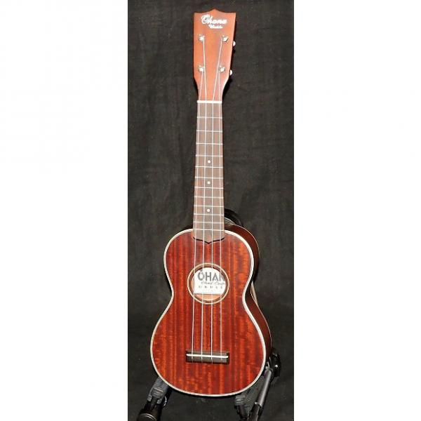 Custom Ohana SK-38 Martin 2M Style Solid Mahogany Soprano Ukulele #1 image