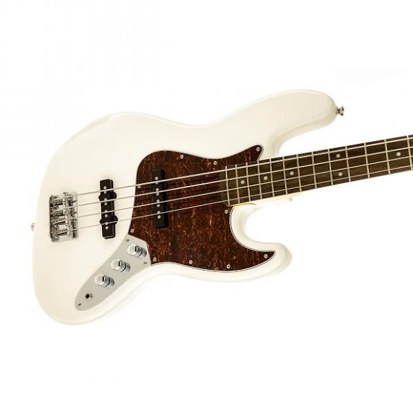 Custom Squier Vintage Modified Jazz Bass Olympic White #1 image