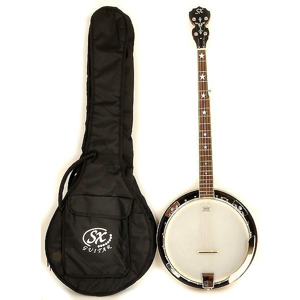 Custom SX Country 5-String Banjo Left Handed with Closed Back and Carry Bag #1 image