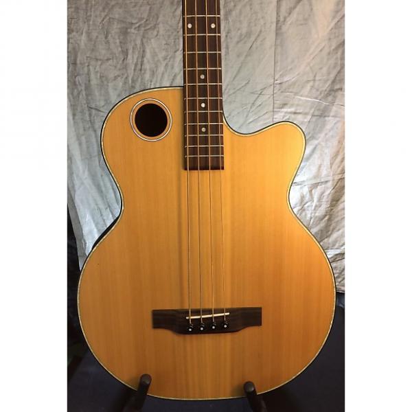 Custom Boulder Creek  EBR3-N4 Satin Solid Cedar top Acoustic Electric Bass-BC Hardshell Case $95 w/Purchase #1 image