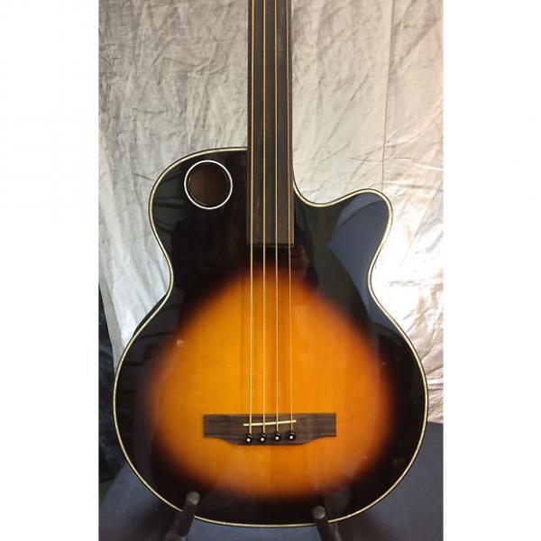 Custom Boulder Creek EBR1-TB4FE Solid Spruce Top Acoustic Electric Fretless Bass -Hardshell-$95 w/purchase #1 image