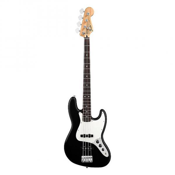 Custom Fender Standard Jazz Electric Bass Guitar - Rosewood Fingerboard, Black #1 image