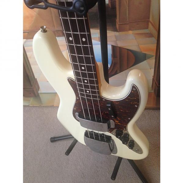 Custom Squier '62 Reissue Jazz Bass 4 String - White - MINT - w/Extras #1 image