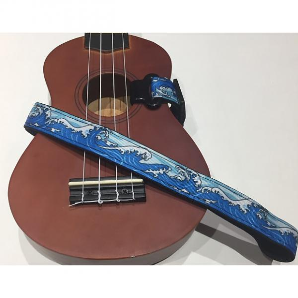 Custom Beach Wave Ukulele Strap #1 image