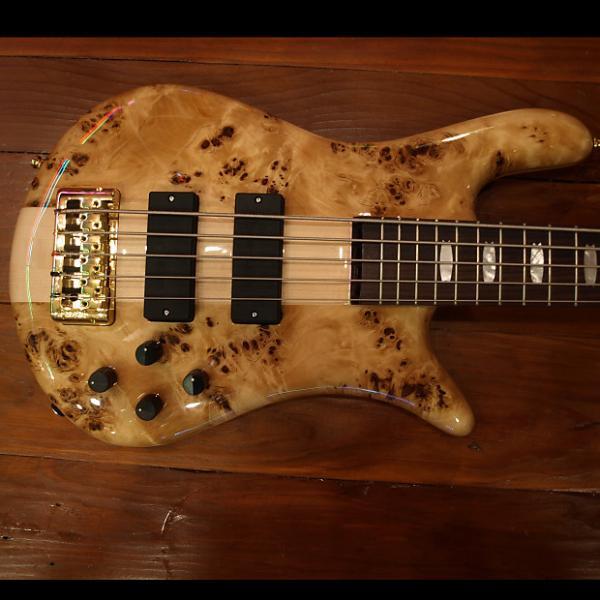Custom Spector 5 string Bass Poplar Burl Poplar Burl #1 image