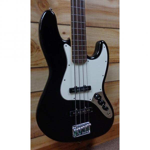 Custom New Fender® Standard Jazz Bass® Fretless Black w/Gigbag #1 image