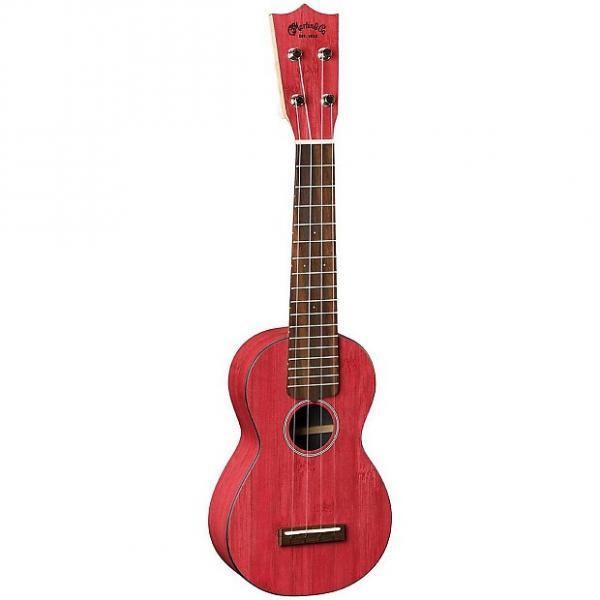 Custom Martin 0X Uke Bamboo Soprano Ukulele Red #1 image