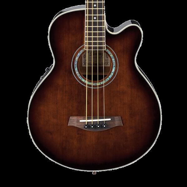 Custom Ibanez AEB10EDVS AE Series Acoustic-Electric Bass Dark Violin Sunburst #1 image