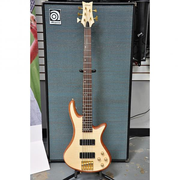 Custom Schecter Stiletto Custom-5 2016 Natural Bass #1 image