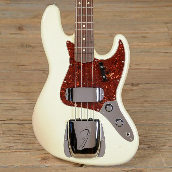 Custom Fender American Vintage '62 Jazz Bass RW Olympic White USED (s913) #1 image