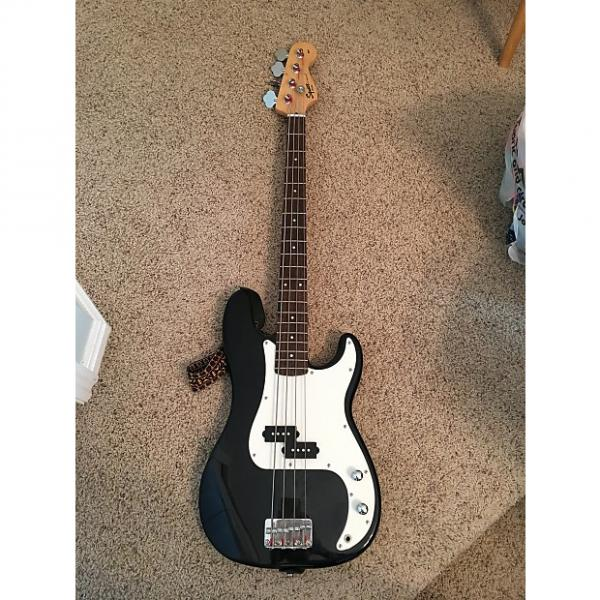 Custom Fender Squier P Bass 2008 Black #1 image