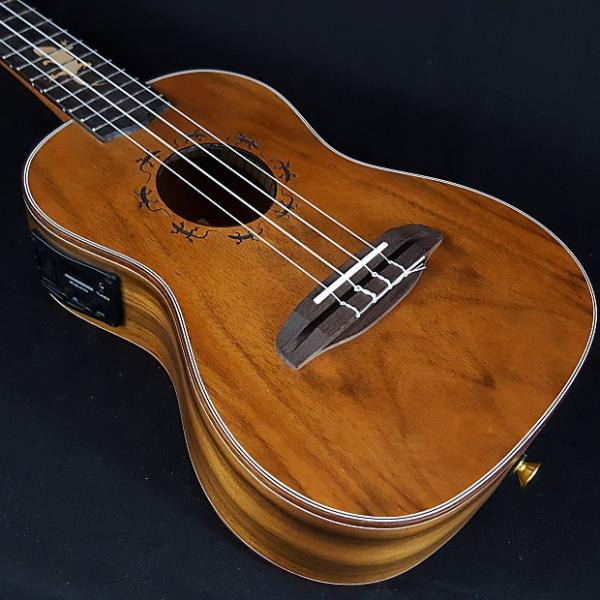 Custom New Ortega Series Lizard CC-GB Concert Acoustic Electric Ukulele w/ Bag #1 image
