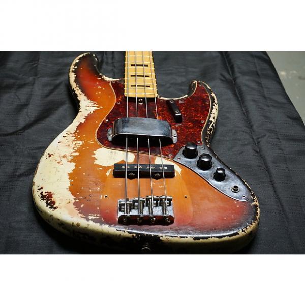 Custom 1970 Fender Jazz Bass - Sunburst Over Olympic White - RARE Color w/ 2 Necks, OHSC #1 image