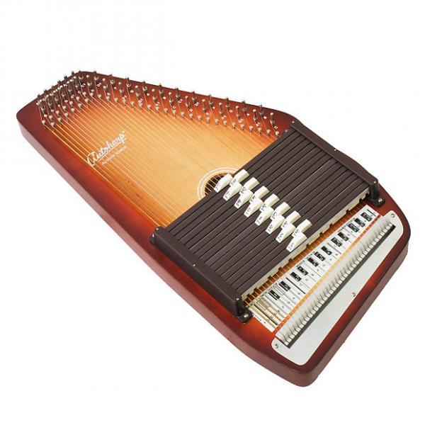 Custom Oscar Schmidt Model 15 EBH/R 15-Chord AutoHarp w/ Case 3-Color Sunburst #1 image