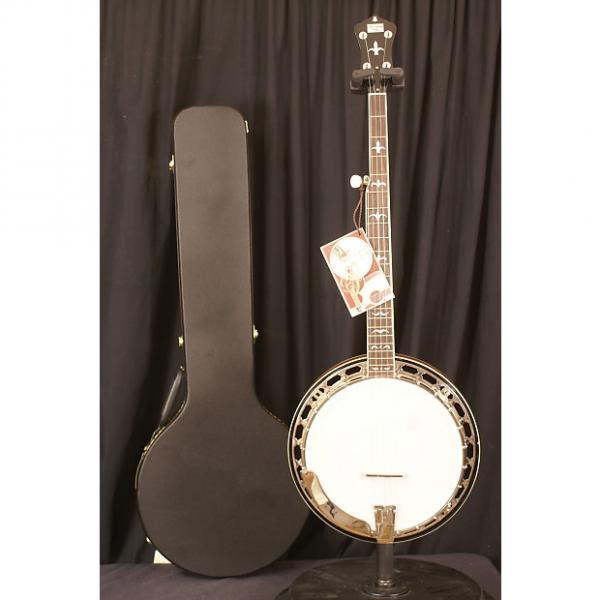 Custom BRAND NEW Recording King RKR36 2016 5 string flathead banjo with Guardian hardshell case #1 image