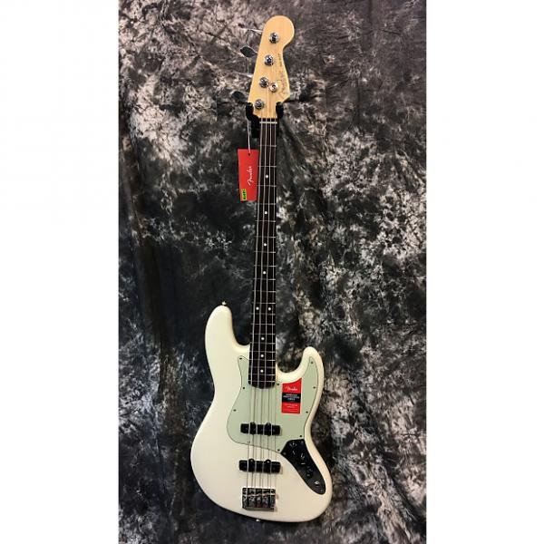 Custom Brand New Fender American Pro Jazz Bass 2017 Olympic White w/Hardcase #1 image