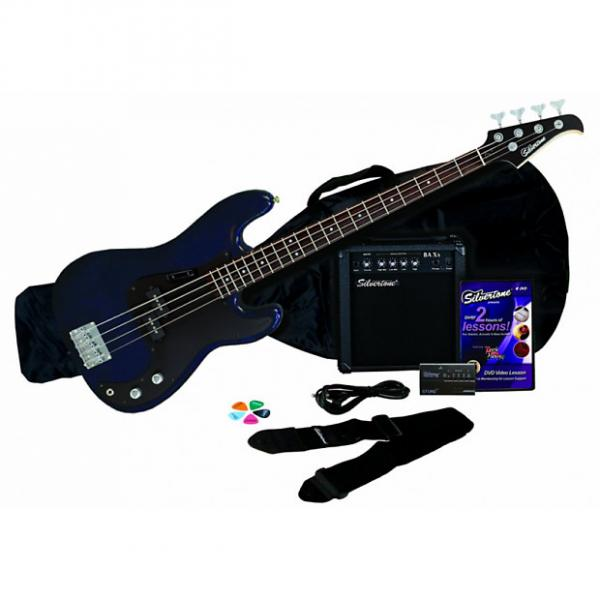 Custom Silvertone LB11 Bass & Amp Package, Cobalt/Dark Blue #1 image