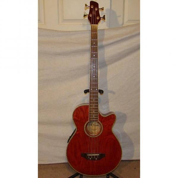 Custom JB Player AB2 Acoustic Bass 2003 Burgandy #1 image