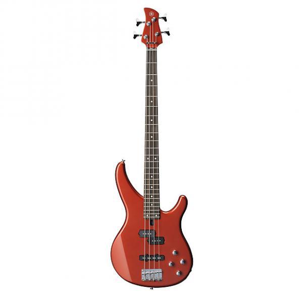 Custom Yamaha TRBX204 Active 4-String Electric Bass Guitar Rosewood Bright Red Metallic #1 image