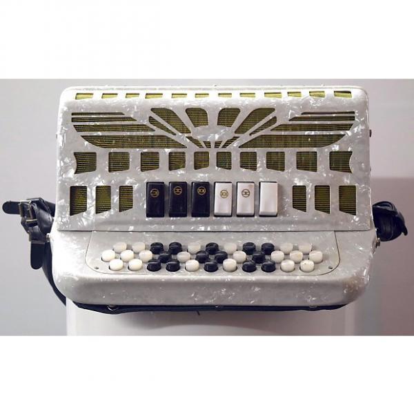 Custom SofiaMari   SMTT-3412, Two Tone Accordion  White Pearl Fa/Mi #1 image