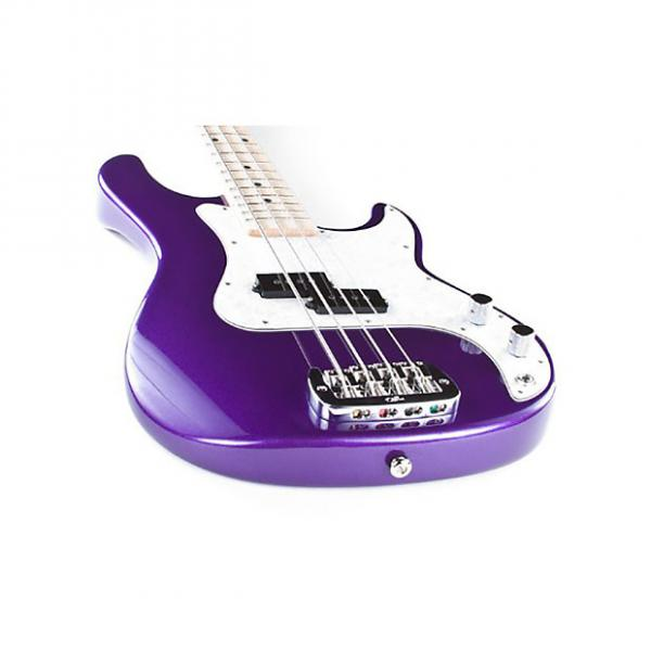 Custom G&L USA LB-100 Electric Bass Guitar Maple Fingerboard Royal Purple + Hard Case #1 image