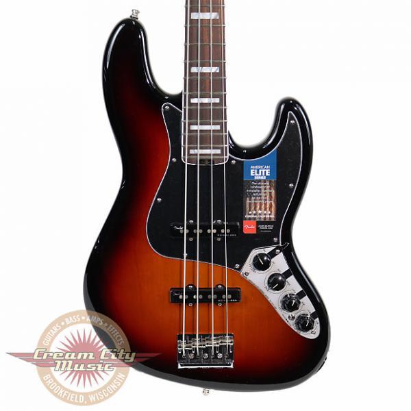Custom Brand New Fender American Elite Jazz Bass with Rosewood Fretboard in 3 Tone Sunburst Demo Model #1 image