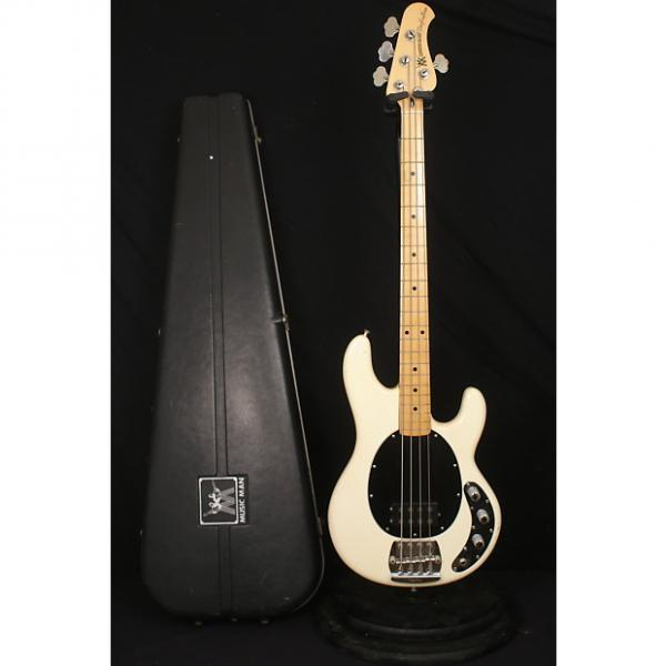 Custom Pre Ernie Ball Music Man Stingray bass 1978/1979 Olympic White All original with EPOXY + bullet case #1 image