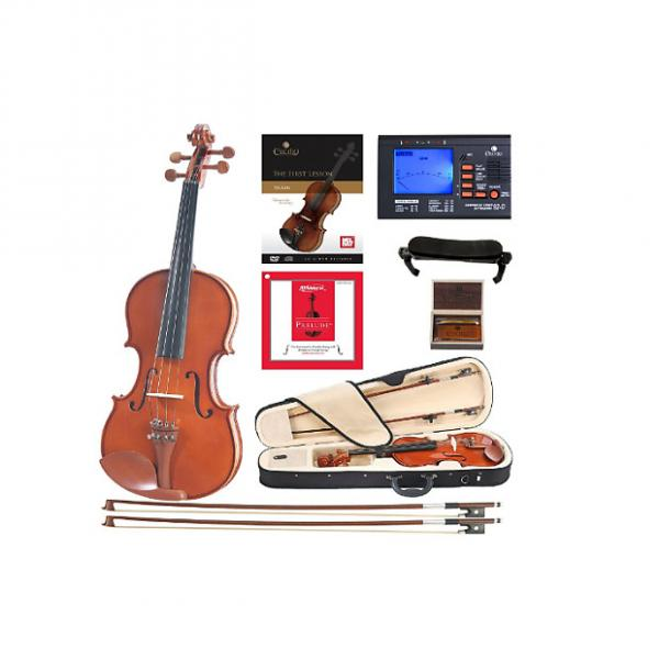 Custom Cecilio CVN-200 Solidwood Violin with D'Addario Prelude Strings, Size 4/4 (Full Size) #1 image