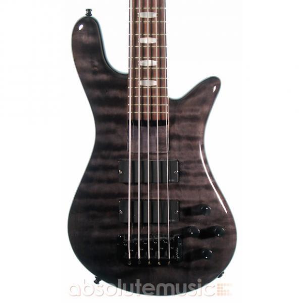 Custom Spector ReBop 5 Bass Guitar, Transparent Black #1 image
