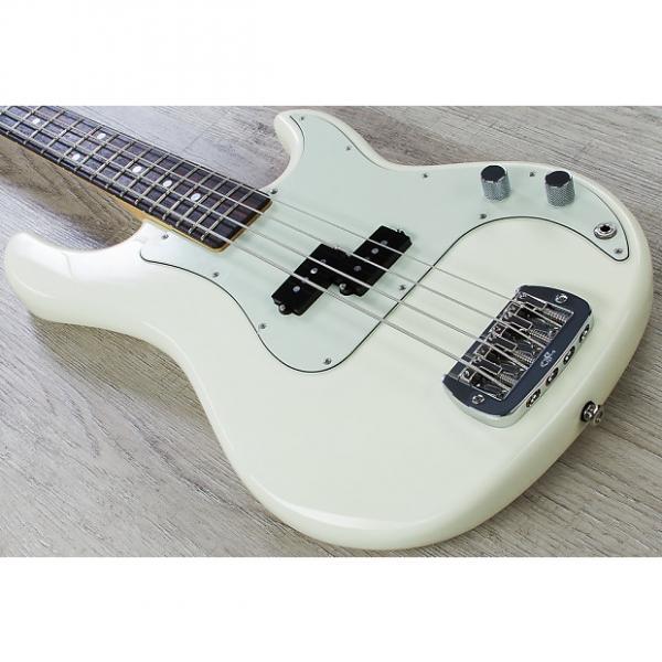 Custom G&L USA LB-100 Electric Bass Guitar Rosewood Fingerboard Vintage White + Case #1 image