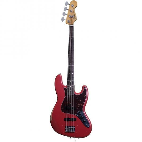 Custom Fender Road Worn 60s Jazz Bass - Fiesta Red #1 image
