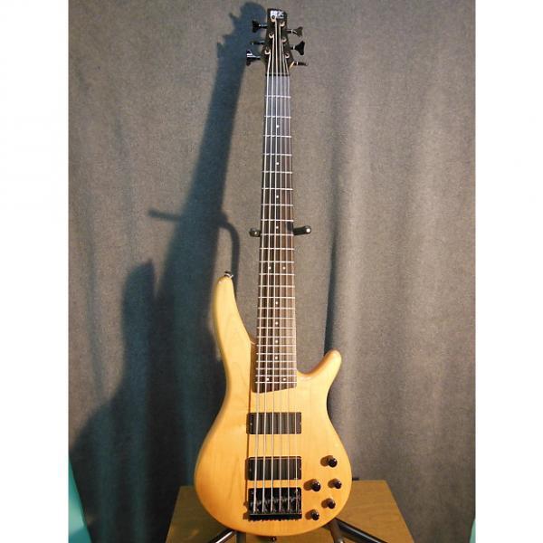 Custom Ibanez SR406 Natural 6 string Bass #1 image