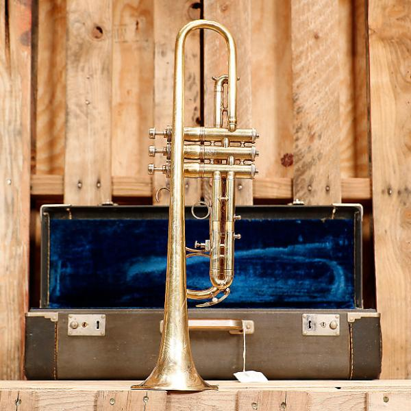Custom King (HN White) Liberty Trumpet VINTAGE w/case 1960's? Brass Lacquer #1 image